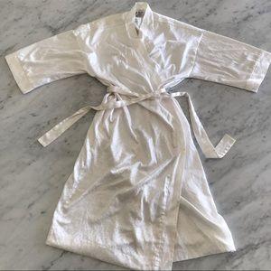 Christian Dior white satin long night robe size L